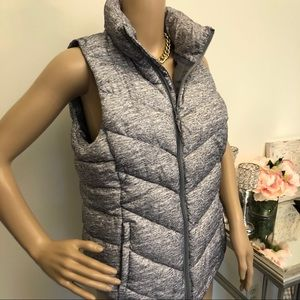 NWT Chevron Puffer Vest with Pockets